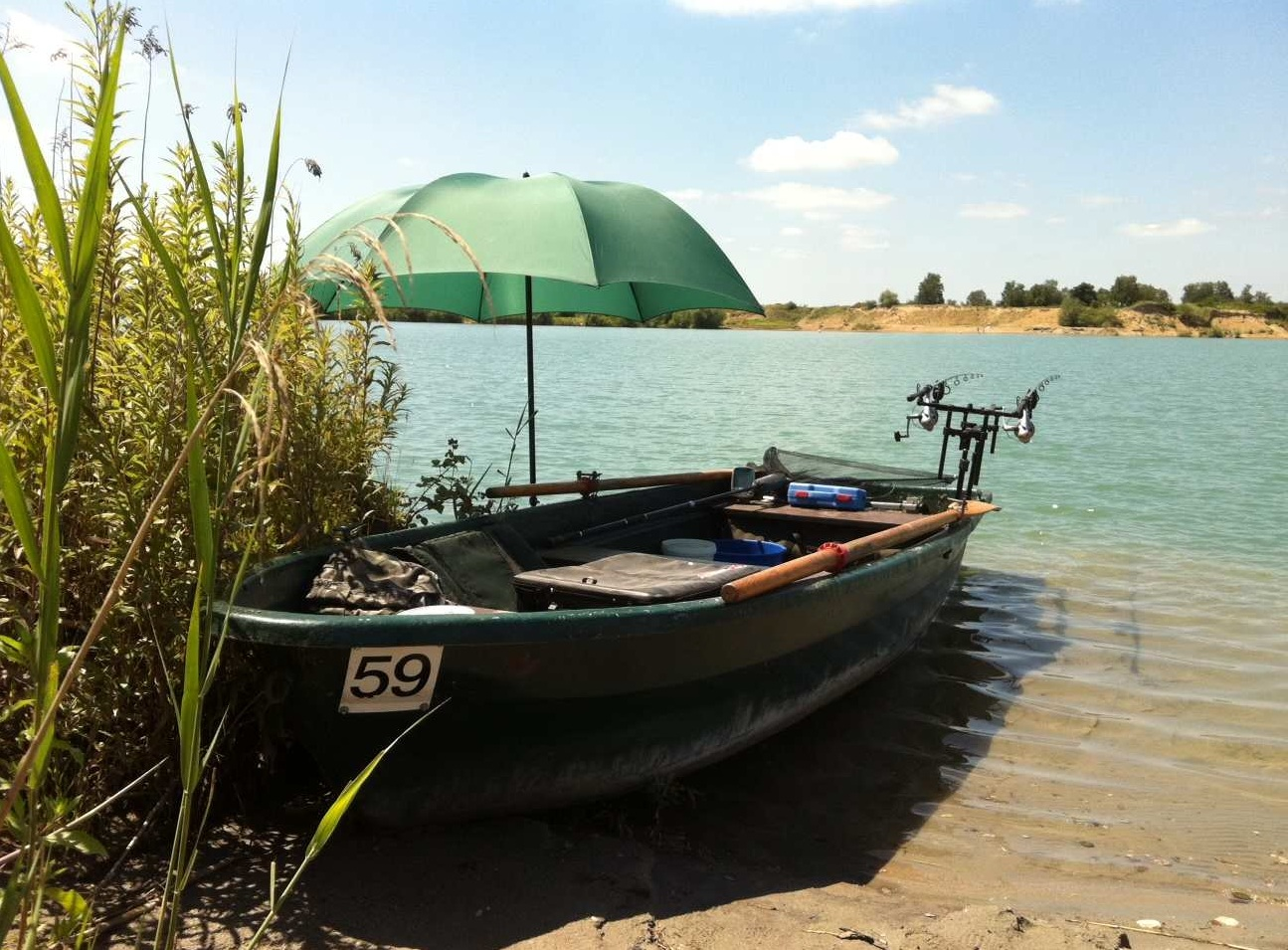 Angelboot zum Karpfenangeln