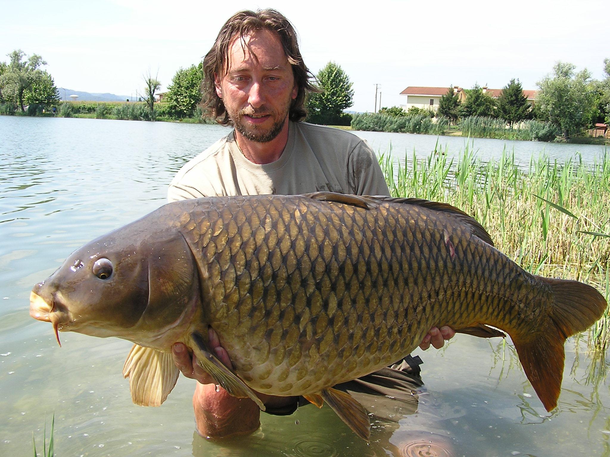 Norbert mit Karpfen aus einem Pay Lake